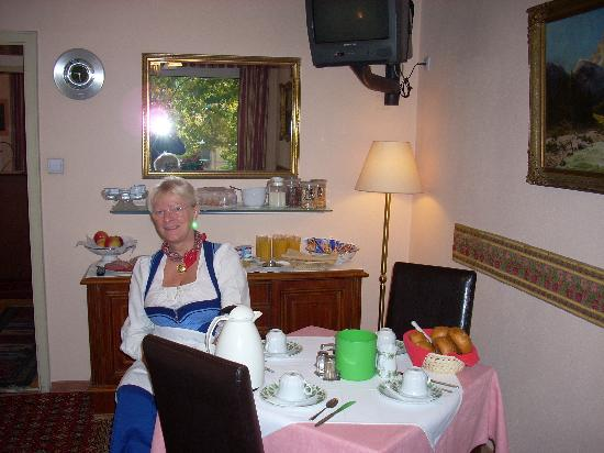 Pension Asta: The Hostess in the Bfast Room