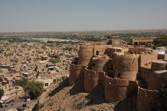 Jaisalmer, Hindistan: City view from the fort