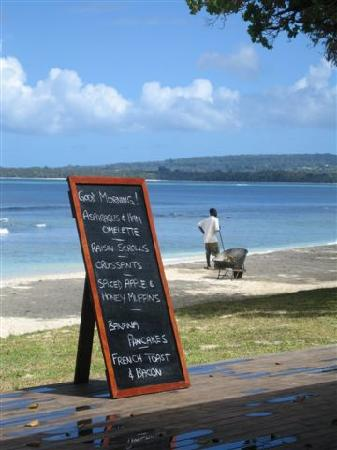 Eratap Beach Resort : Breakfast menu