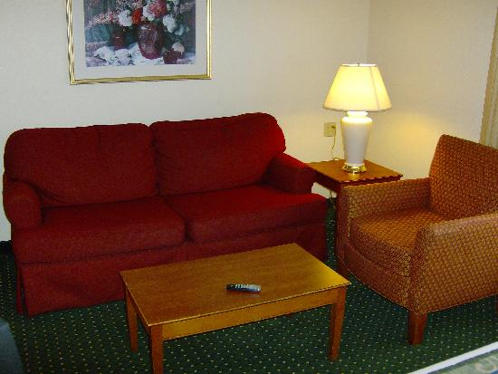 TownePlace Suites Denver Southeast: Nice lounge suite in one corner of this studio.
