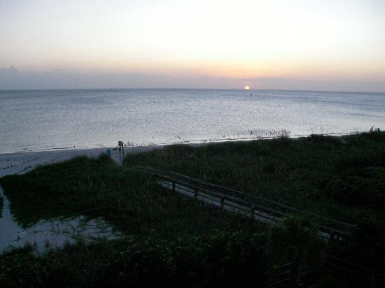 Sand Pebble Resort: View from our balcony at sunset