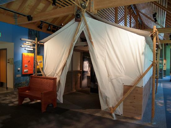 Tillamook Forest Center : a day in the life of....display at center