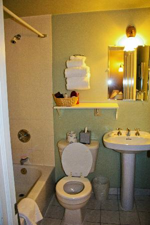 Bathroom - tight but adequate - watch the corner of that shelf when you brush your teeth