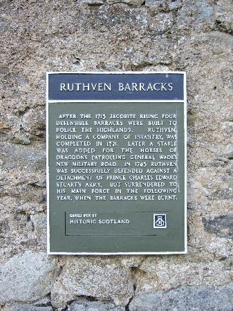Ruthven Barracks: The Barracks.