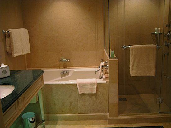 Four Seasons Hotel George V Paris: tub and shower