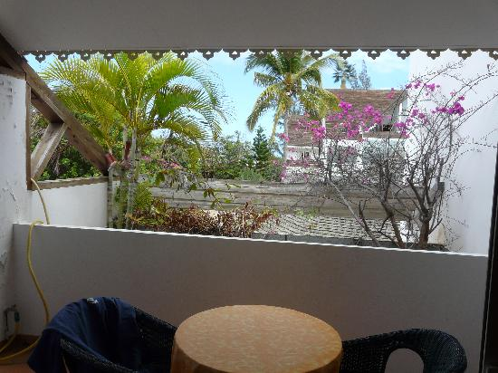 La Saline les Bains, Réunion: vue de la terrasse