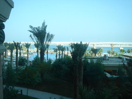 Atlantis, The Palm: View of Royal Pool from Gym