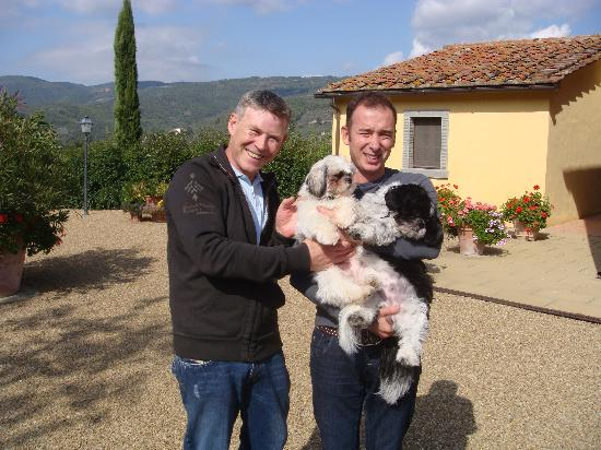 Casa Portagioia: Terry and Marcello with Sammy and Tosca
