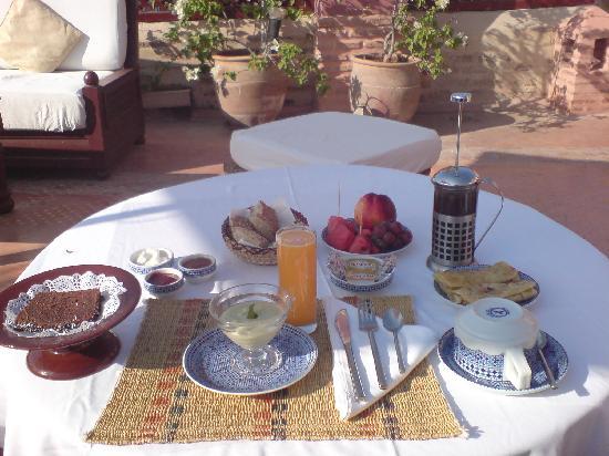 Riad Zolah: petit dej délicieux
