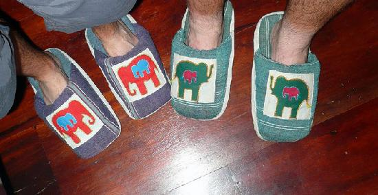 Villa Ban Lakkham: Slippers - way cool!