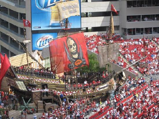 the buccaneer ship inside the stadium picture of raymond james stadium tampa tripadvisor the buccaneer ship inside the stadium