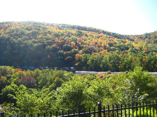 Horseshoe Curve National Historic Landmark: Another view on 10/10/08