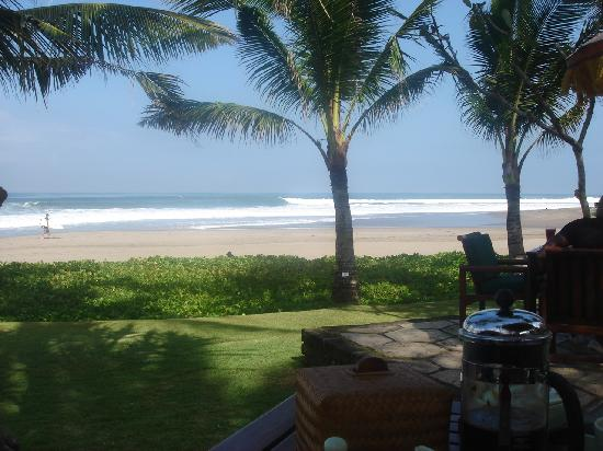 The Oberoi Bali: view at breakfast