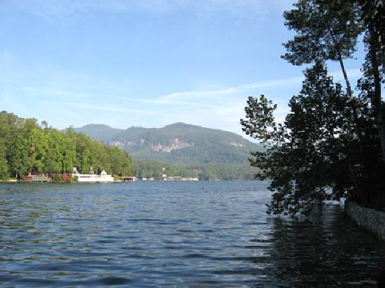 The Lodge on Lake Lure: view from boathouse deck
