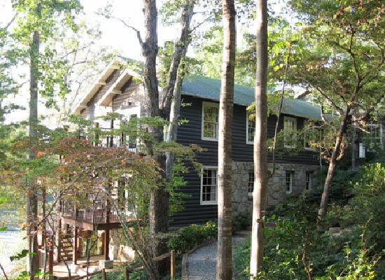 The Lodge on Lake Lure: view of part of main lodge