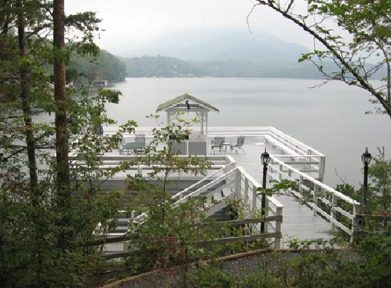 The Lodge on Lake Lure: boathouse