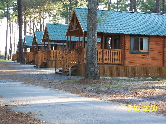 Frontier Town: A few of the cabins they offer to rent