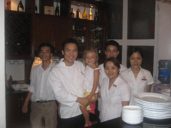 Hanoi City Palace Hotel : HE3 staff with our daughter