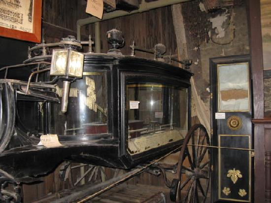 Bird Cage Theatre: Old Hearse on stage of Bird Cage Theater