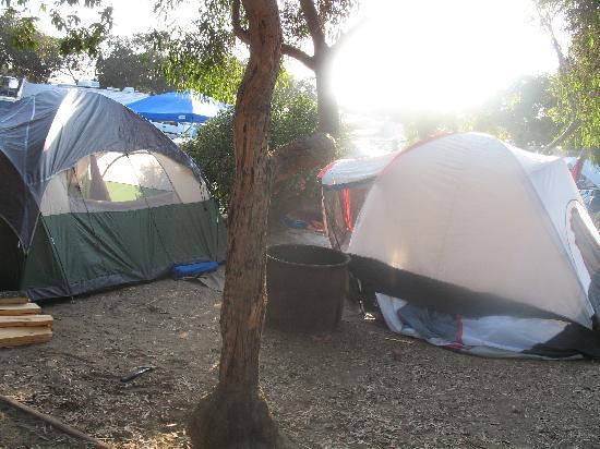 Carpinteria State Beach Tent Camping