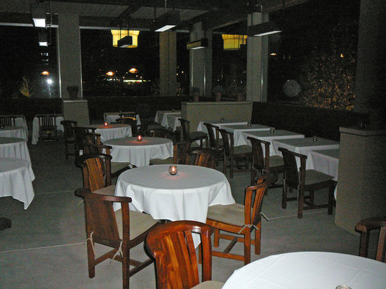 La Toque: The outdoor patio.