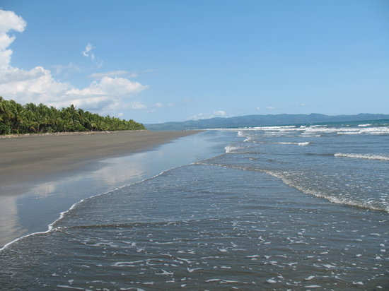 Playa Zancudo, Costa Rica: Back to the beach the next day and looking the other way: where is everybody?
