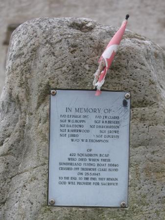 Ireland: co. Mayo - Clare Island: Memorial to Crew from Canadian Air Force
