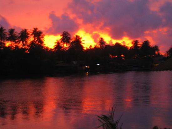 Ganga garden sun set
