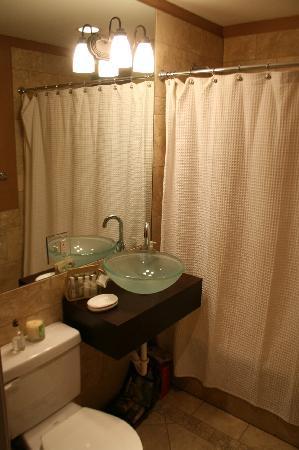 Roscoe Village Guesthouse: Nice jacuzzi bath