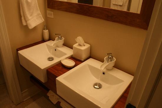 Roscoe Village Guesthouse : Nice bath