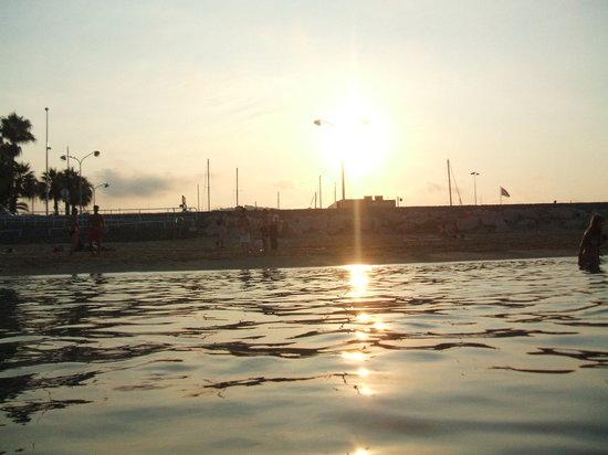 Lever du soleil à Cannes