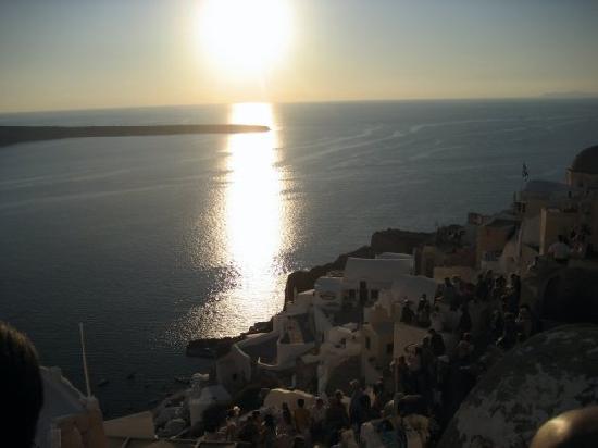 Irini's Villas Resort: Sunset at Oia