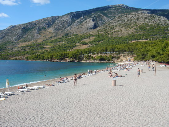 Brač, Hırvatistan: BOL BEACH SEPTEMBER
