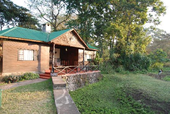 Mount Meru Game Lodge & Sanctuary: Our Room-look whats to the right of photo!