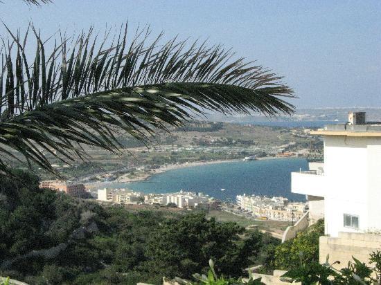 Pergola Hotel & Spa: Mellieha bay sen from the hotel