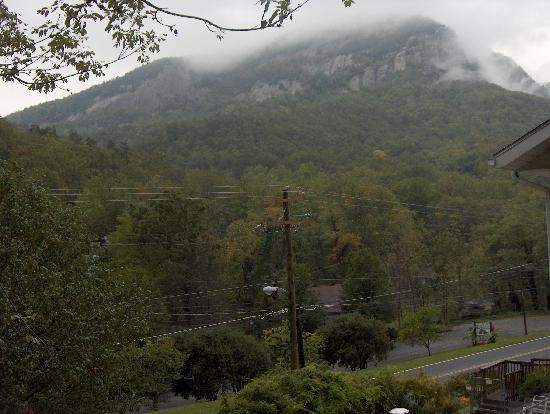 Chimney Rock view from the deck Wildflower Cottage at Chimney Rock Inn 10-18-08  We loved this p