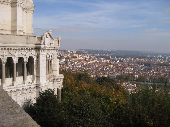 Hôtel La Résidence : View over Lyon from Fourviere