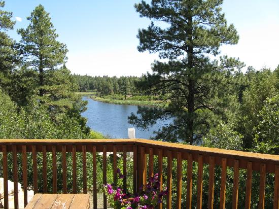 Lost Canyon Lake Lodge: the view off the deck