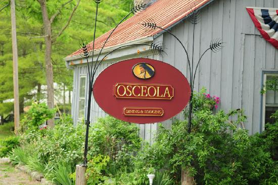Osceola Mill Restaurant, B&B and Cabins: Outdoor sign at Osceola Mill Restaurant