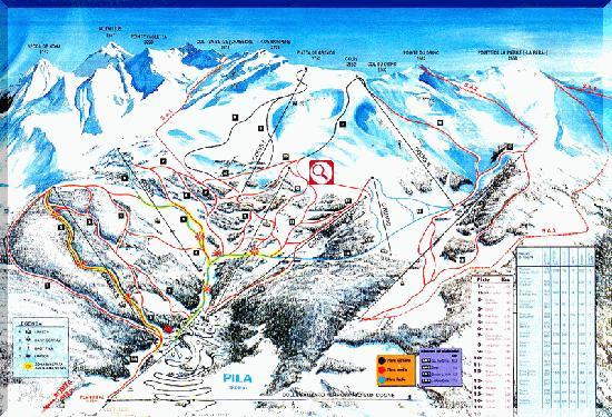 Pila Ski Resort : ゲレンデマップ
