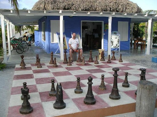 Sol Cayo Largo: Pat adn ray playing chess