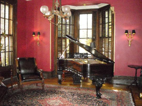 "Rock City Falls, NY: The ""Piano Room"" at the mansion"