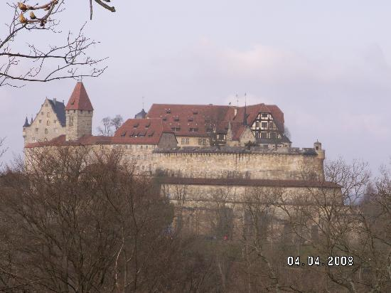 Coburg, Duitsland: The castle from the first carpark