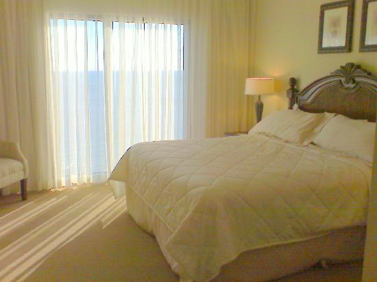 2 Bed unit master bed; comfy king, nice chair, great window ...