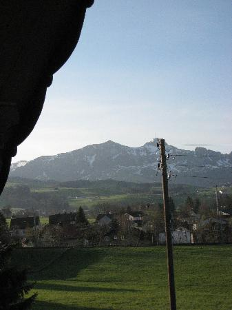 Appenzell, Schweiz: View out our widow