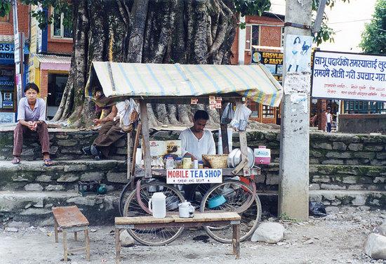 โปขระ, เนปาล: Pokhara - Mobile Tea Shop