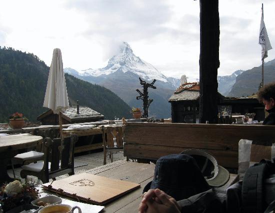 Restaurant Chez Vrony: レストランからの眺め