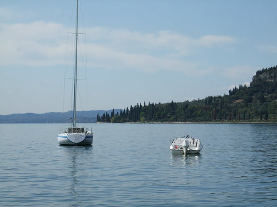 Looking towards Punta San Vigilio, Garda