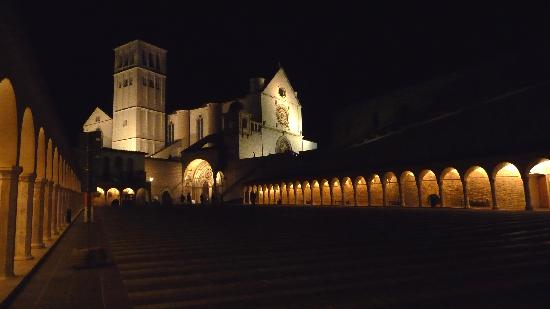 Hotel Berti: St Francis Church at night - a five minute walk away!