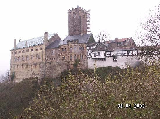 Wartburg Castle from the viewpoint